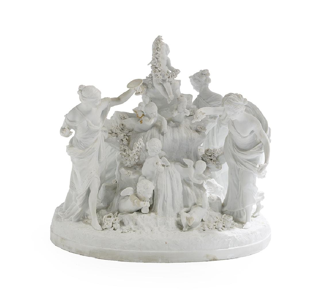 Neoclassical Biscuit Porcelain Figural Group