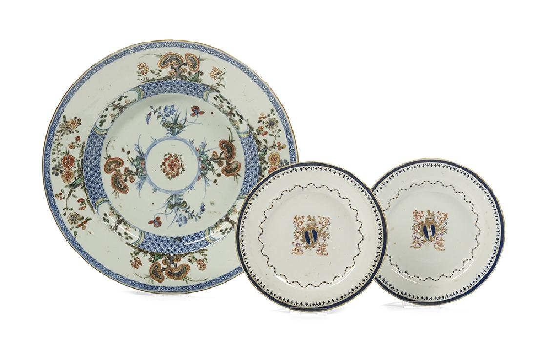 Group of Three Chinese Export Porcelain Plates
