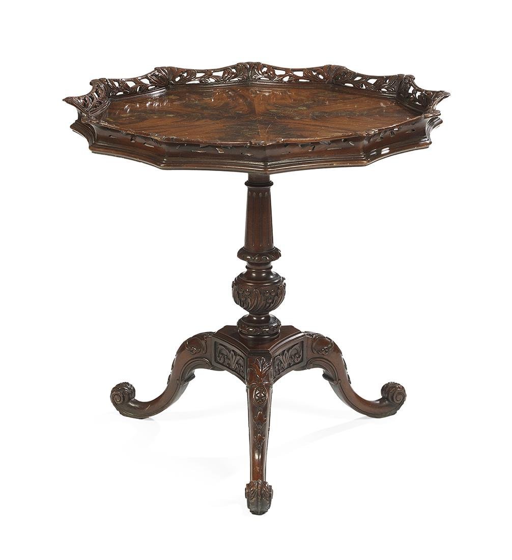 Chippendale-Style Mahogany Tea Table