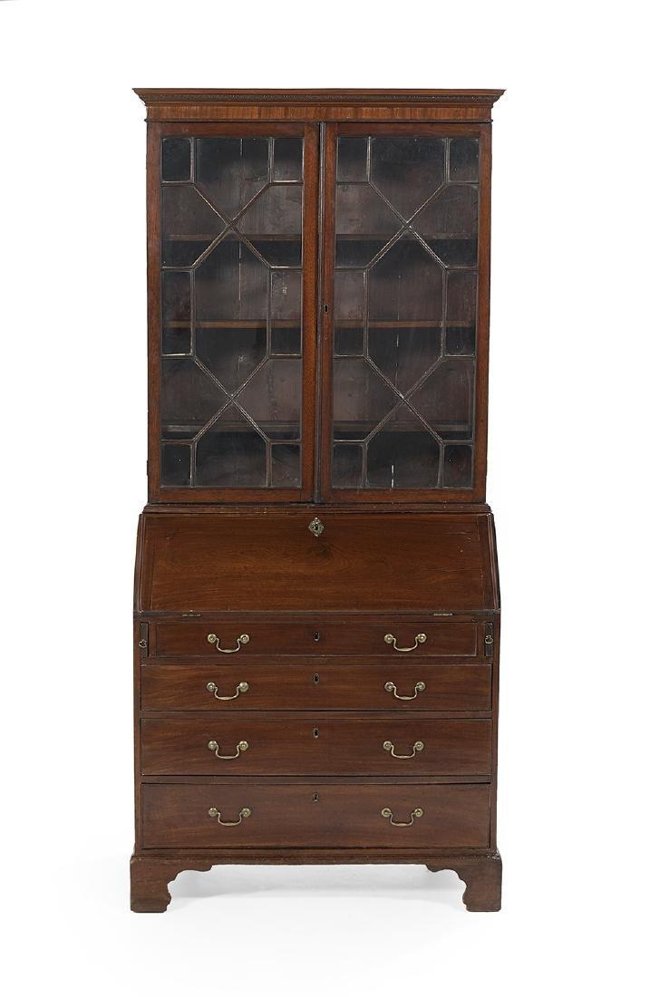 George III Mahogany Secretary Bookcase