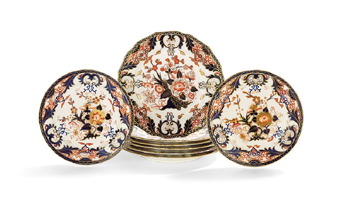 Collection of Eight Derby Imari Plates