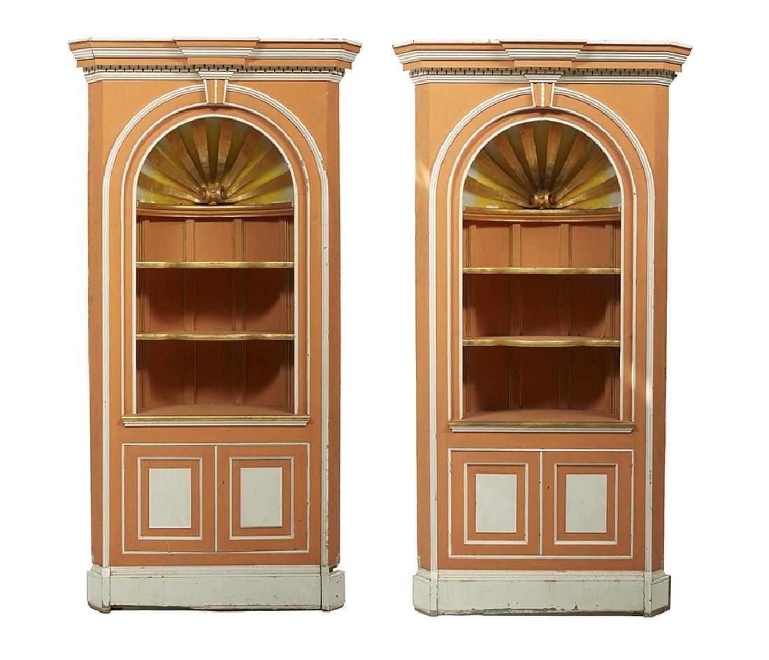 Pair of George III-Style Corner Cabinets