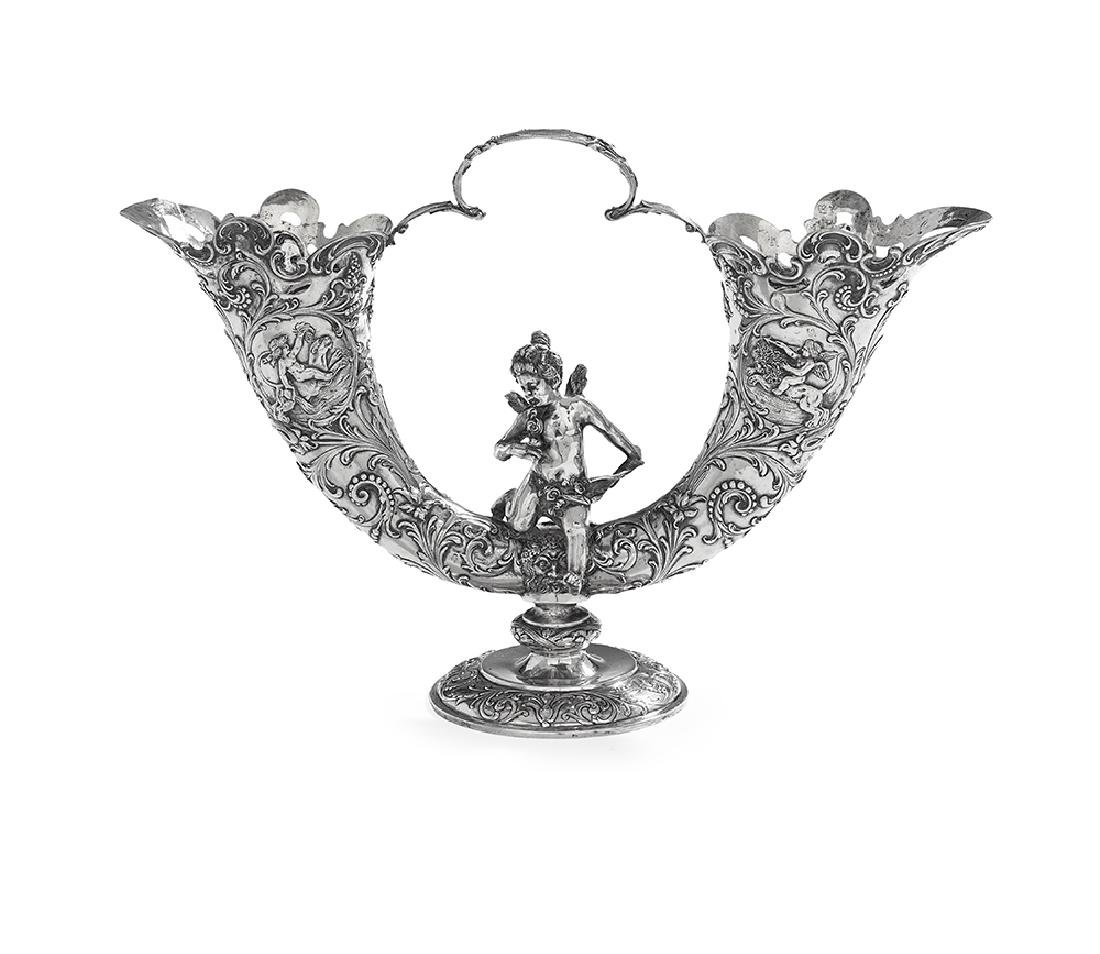 German Silver Double Vase