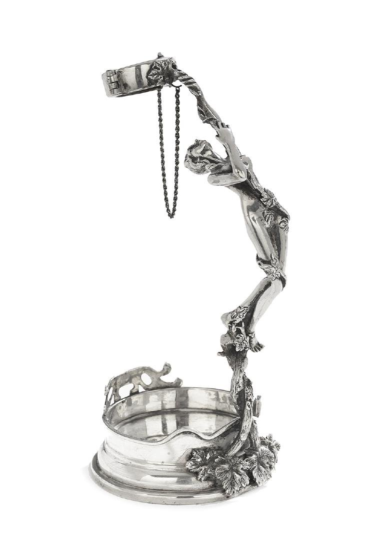 Art Nouveau-Style Sterling Silver Bottle Holder