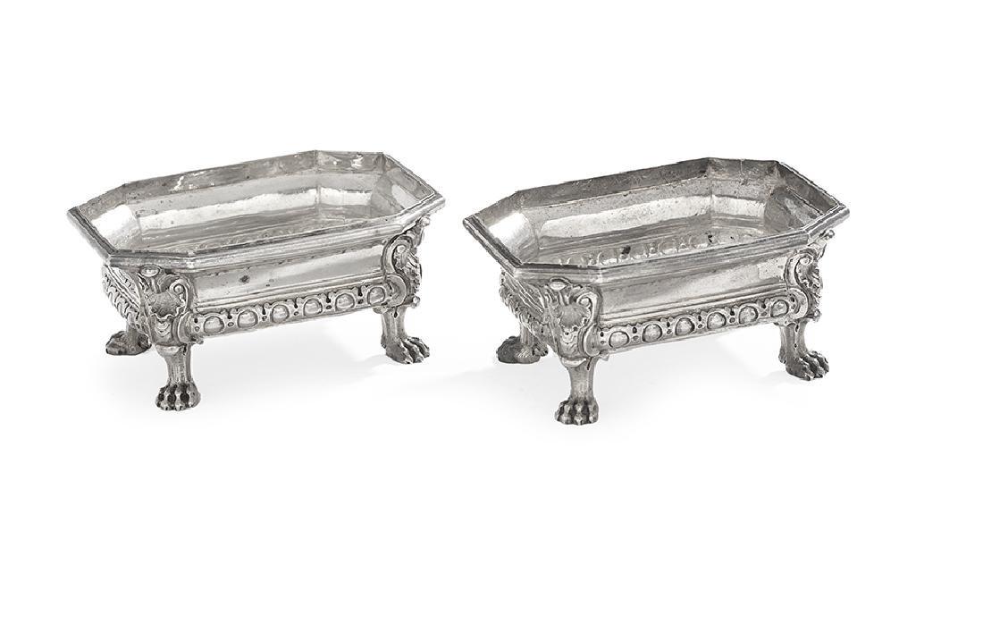 Pair Napoleon III Maison Odiot Silver Salts
