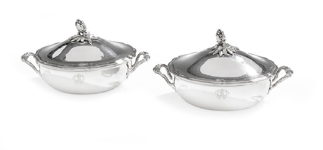 Pair of Christofle Silverplate Ecuelles