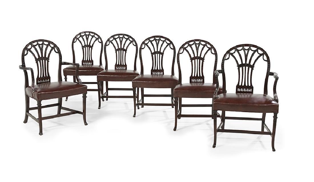 Six George III-Style Mahogany Dining Chairs