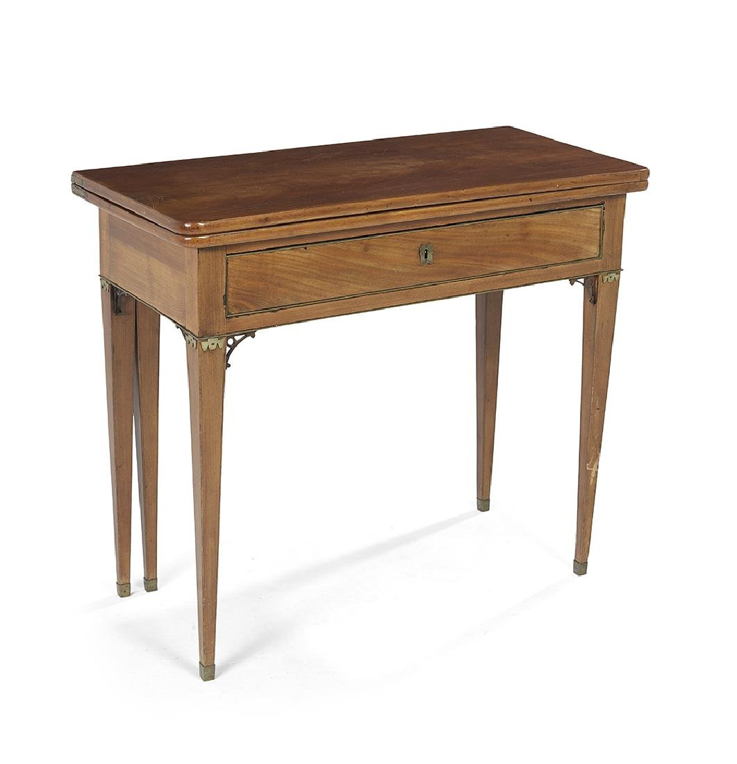 George III-Style Brass-Mounted Game Table