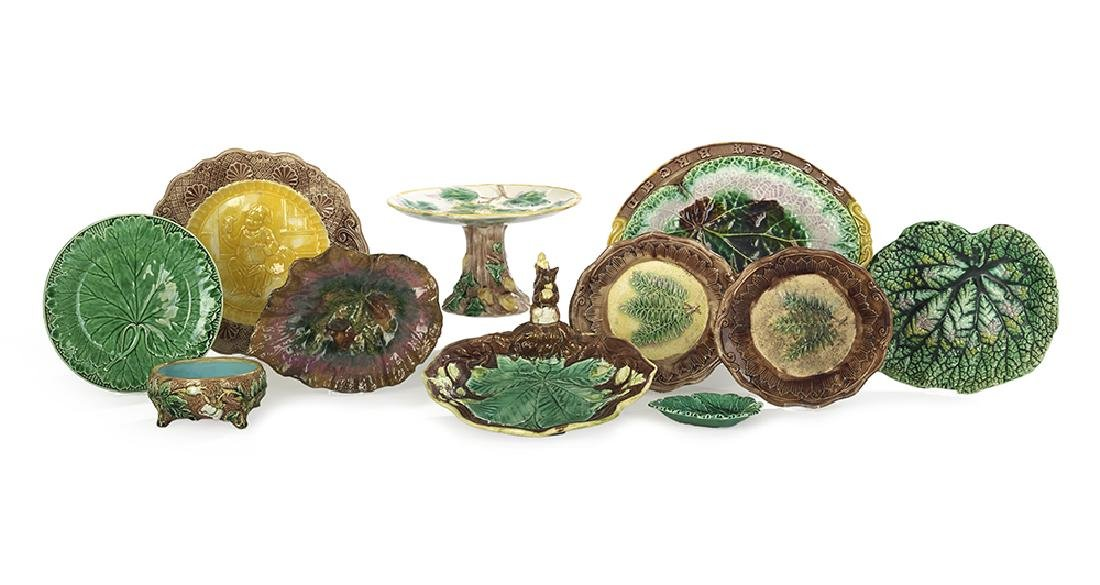 Collection of Ten Pieces of Majolica