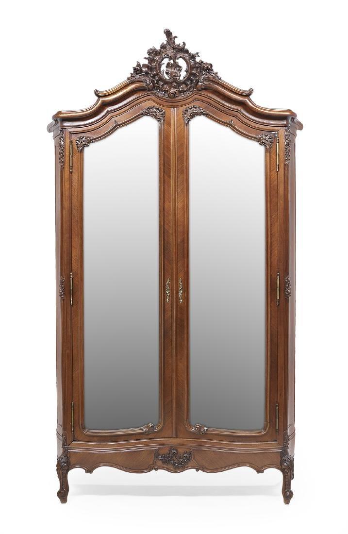 Louis XV-Style Kingwood Armoire