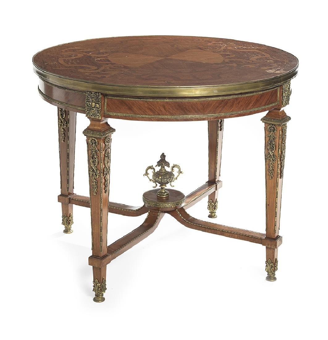Ormolu-Mounted Mahogany Center Table