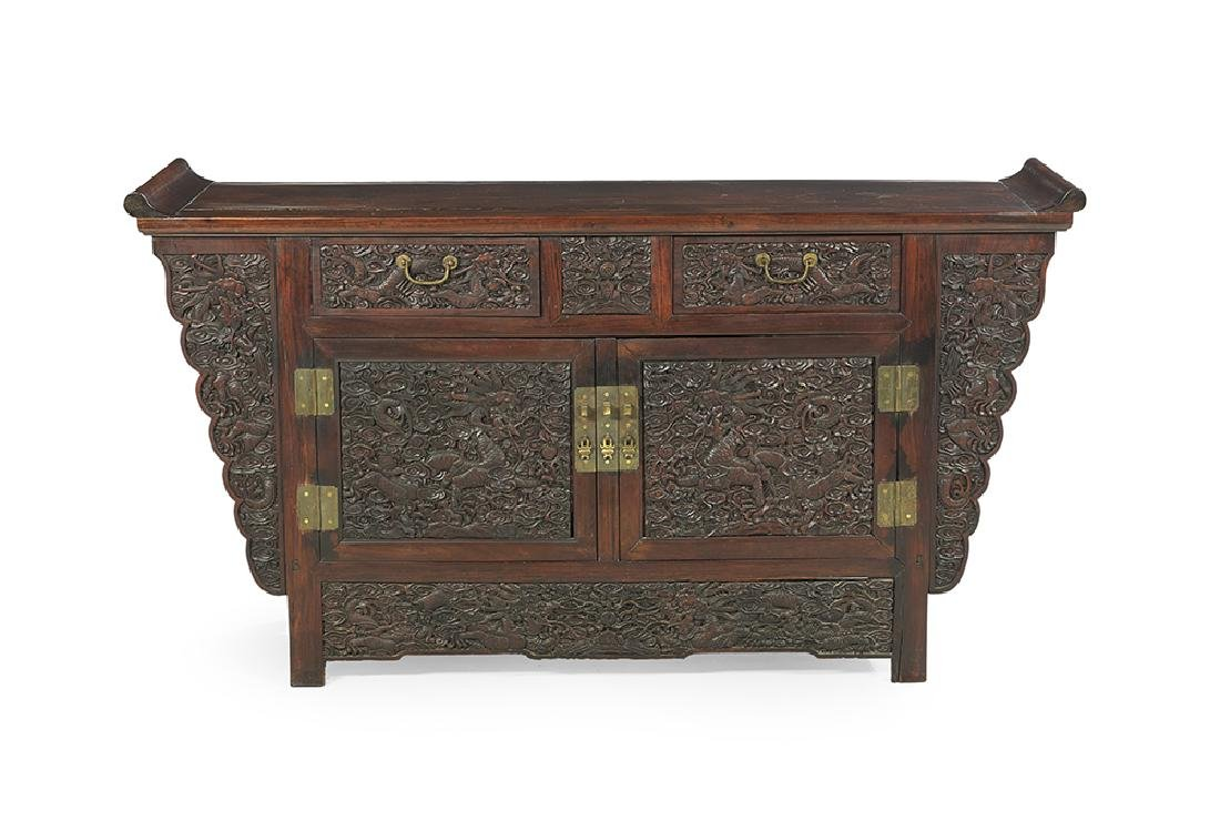 Asian Hardwood Altar Cabinet