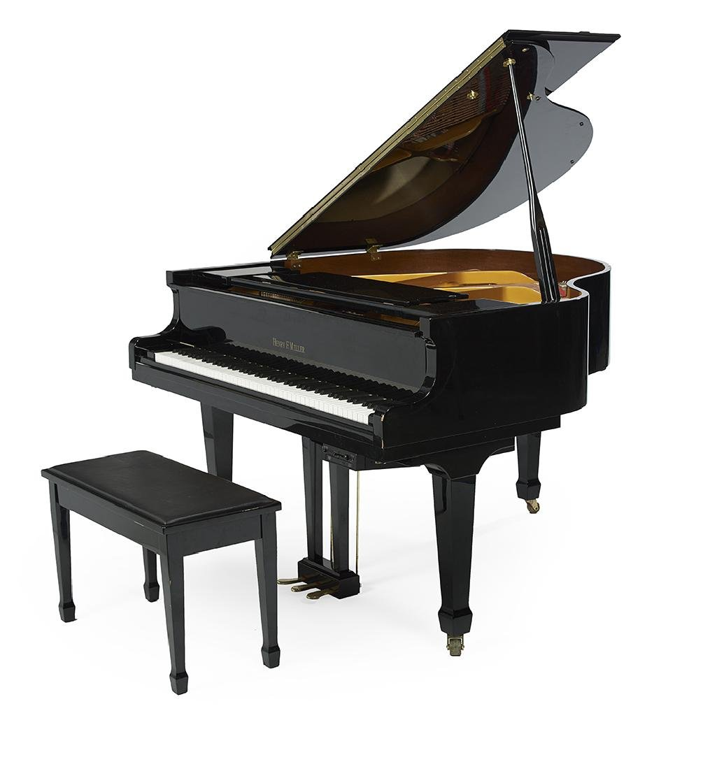 Henry F. Miller Ebonized Baby Grand Piano