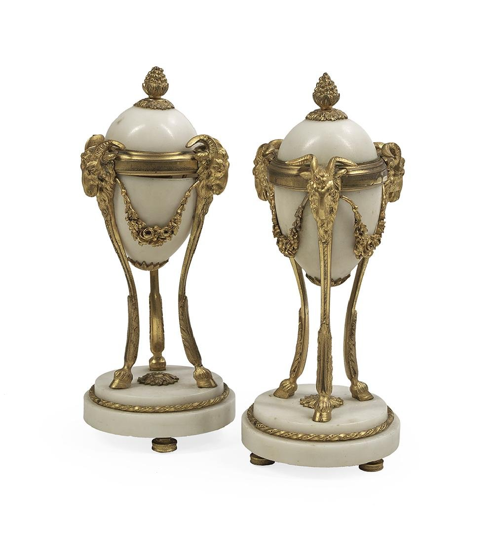 Pair of Louis XIV-Style Gilt-Bronze Cassolettes