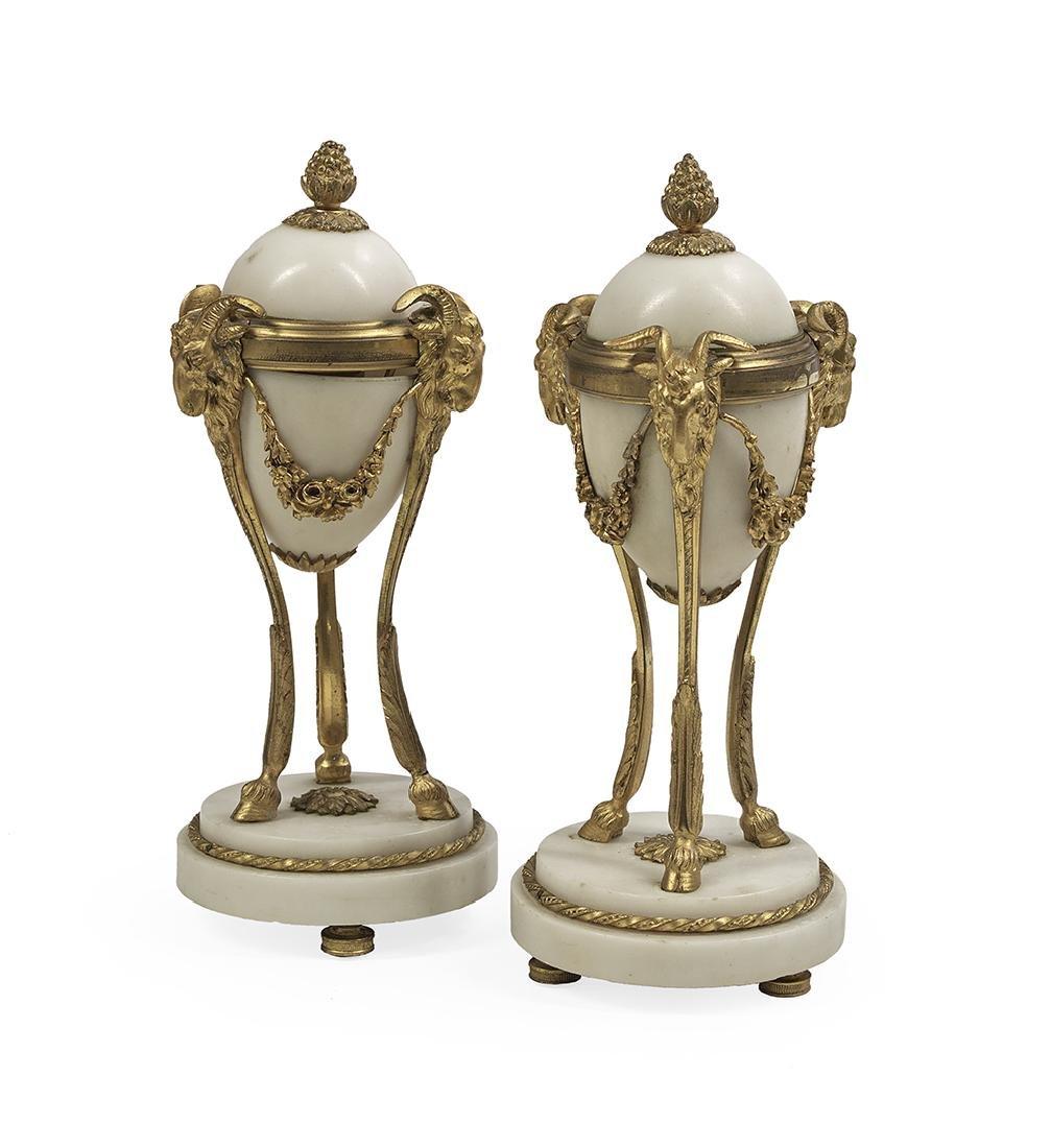 Pair of Louis XIV-Style Gilt-Bronze Cassolettes