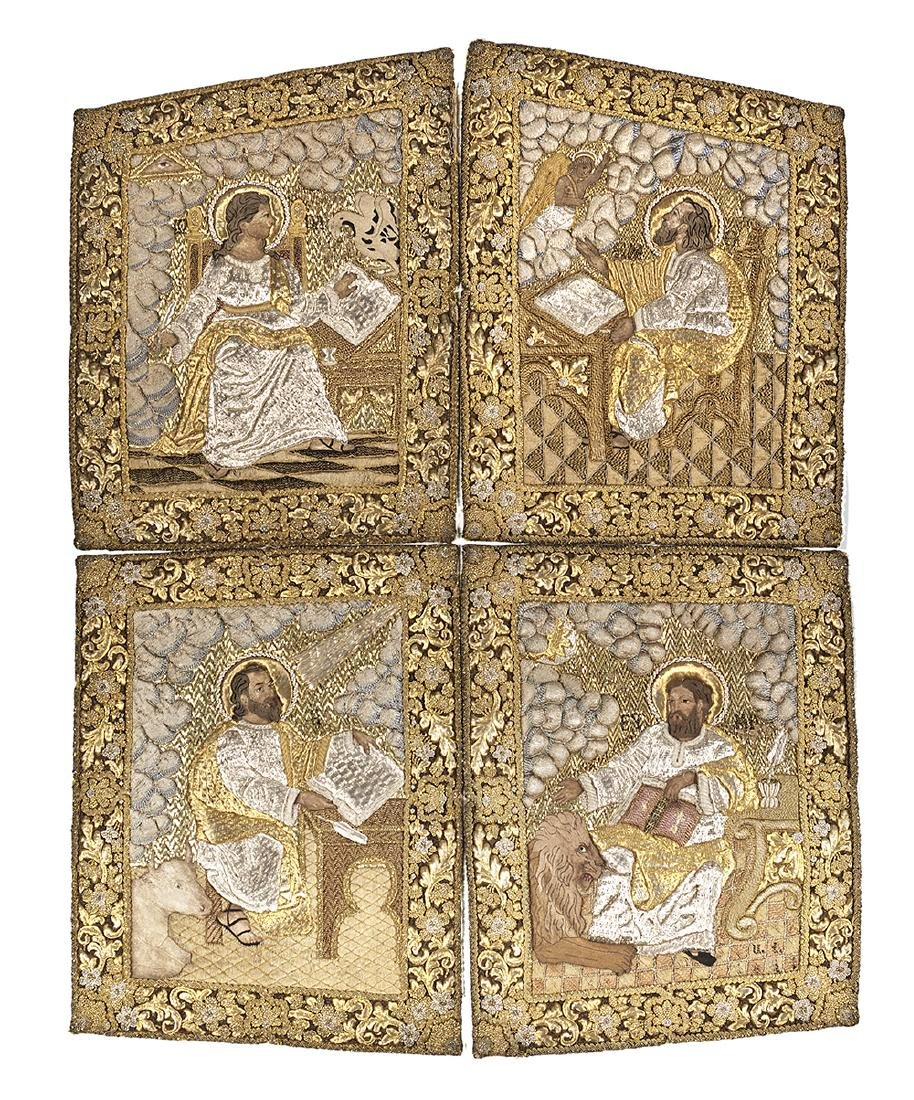 Goldwork Embroidery Panels of the Evangelists