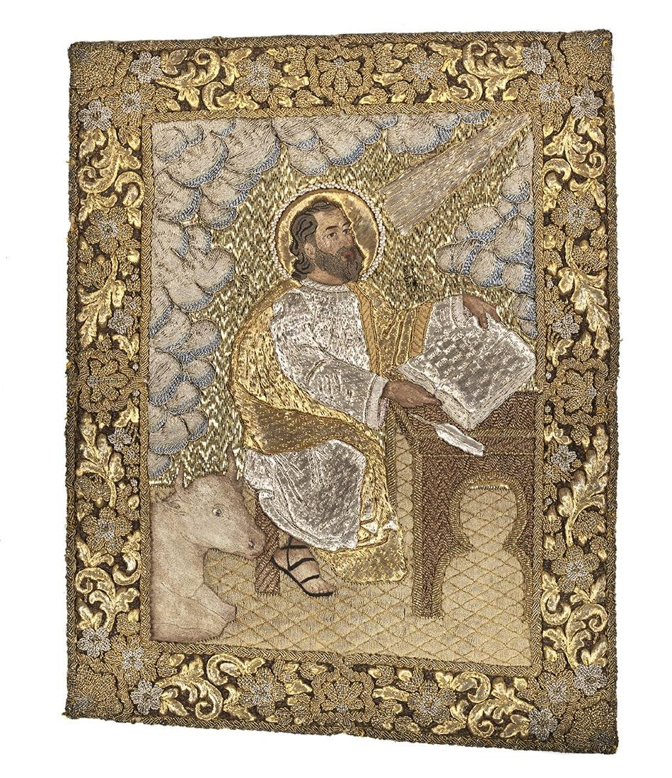 Goldwork Embroidery Panels of the Evangelists - 4