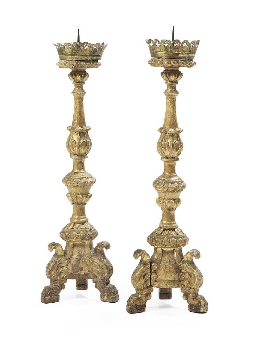 Two Pairs of Italian Altar Sticks