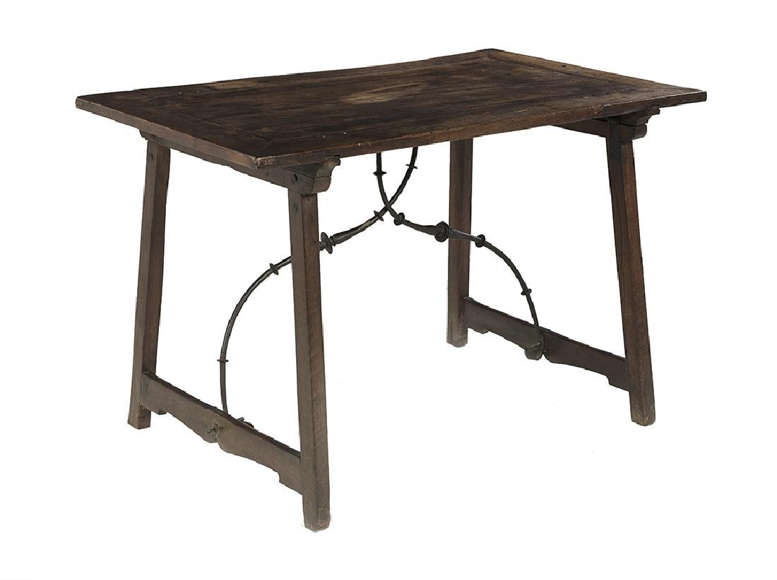 Spanish Provincial Mahogany Guard Room Table