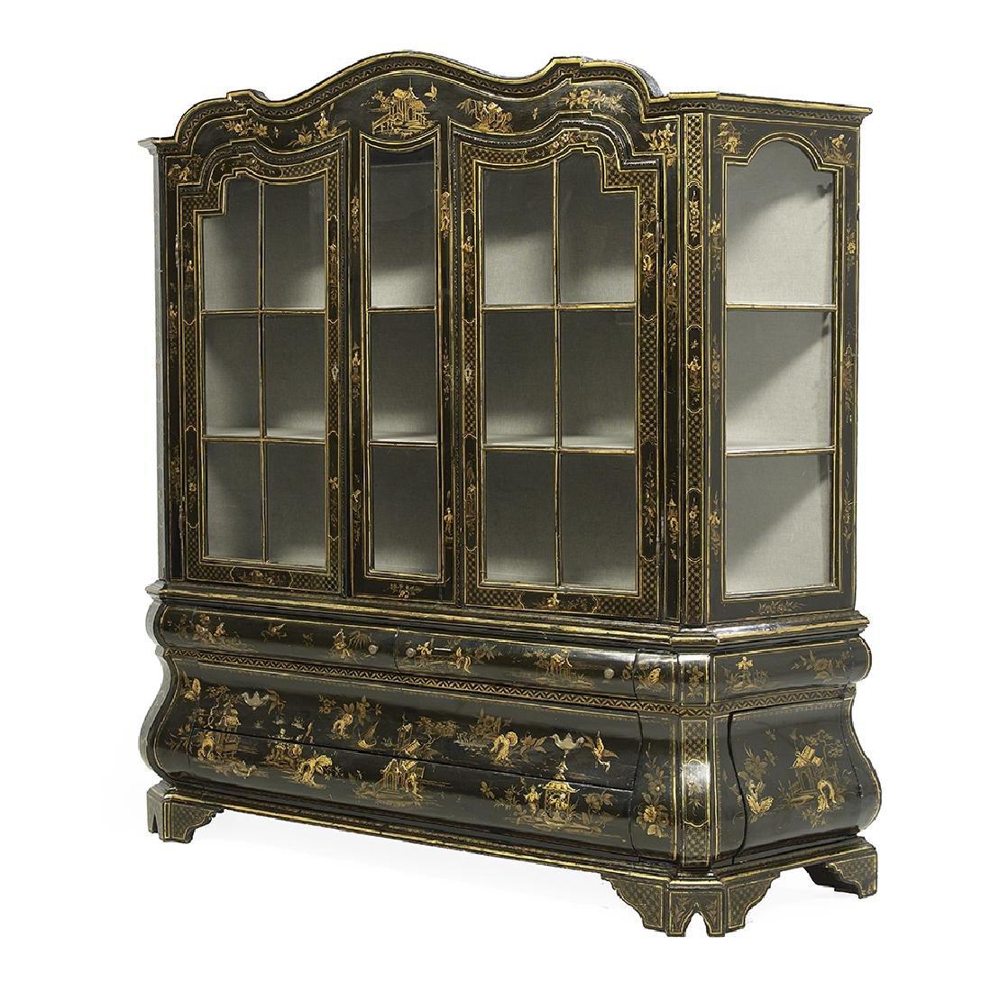 Dutch Chinoiserie Polychrome Display Cabinet - 2