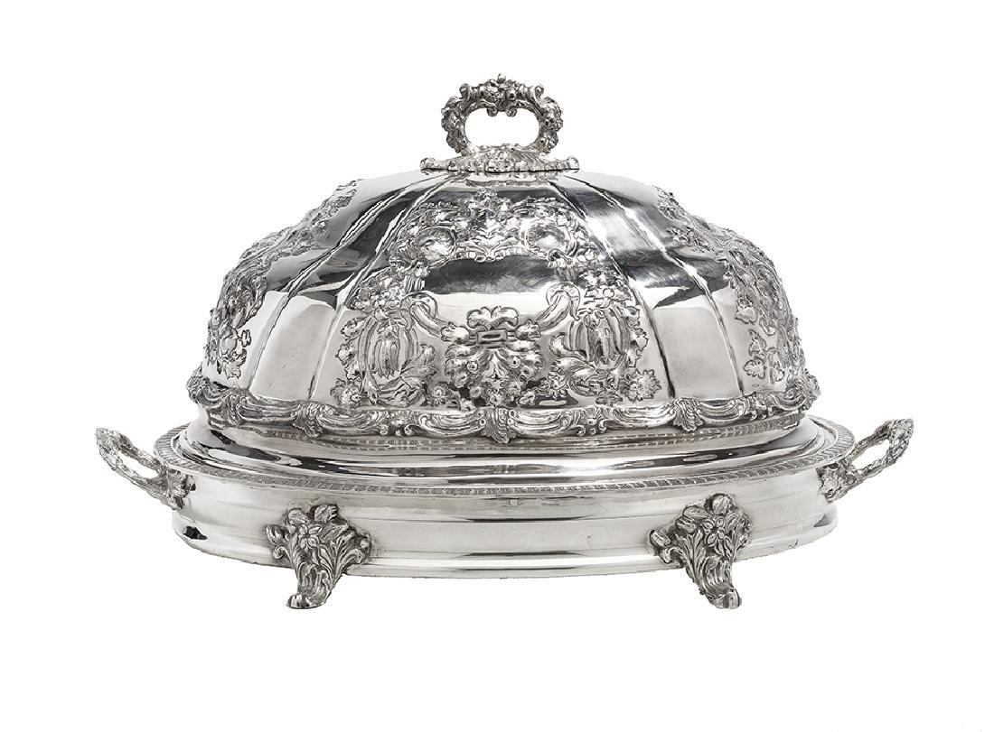 Continental Silverplate Meat Dome and Platter