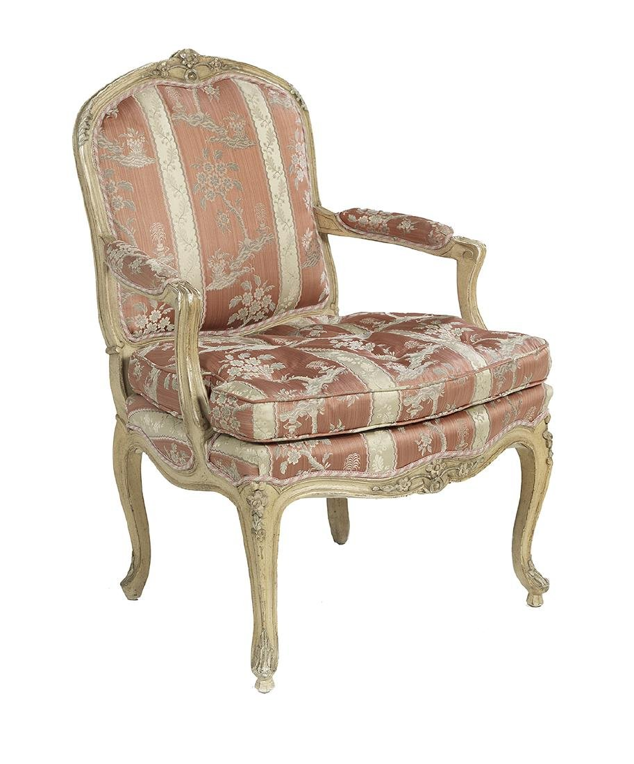 Louis XV-Style Polychrome Fauteuil - 2