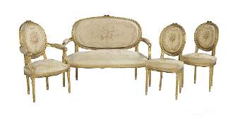 FourPiece Louis XVIStyle Giltwood Parlor Suite