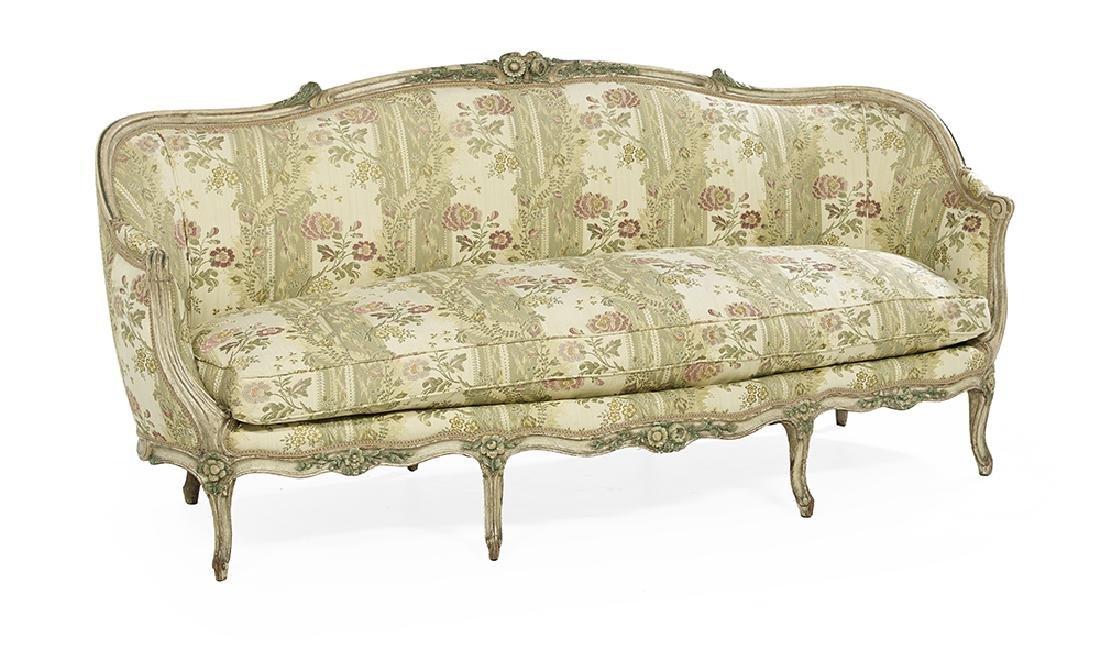 Louis XV-Style Polychrome Sofa - 2