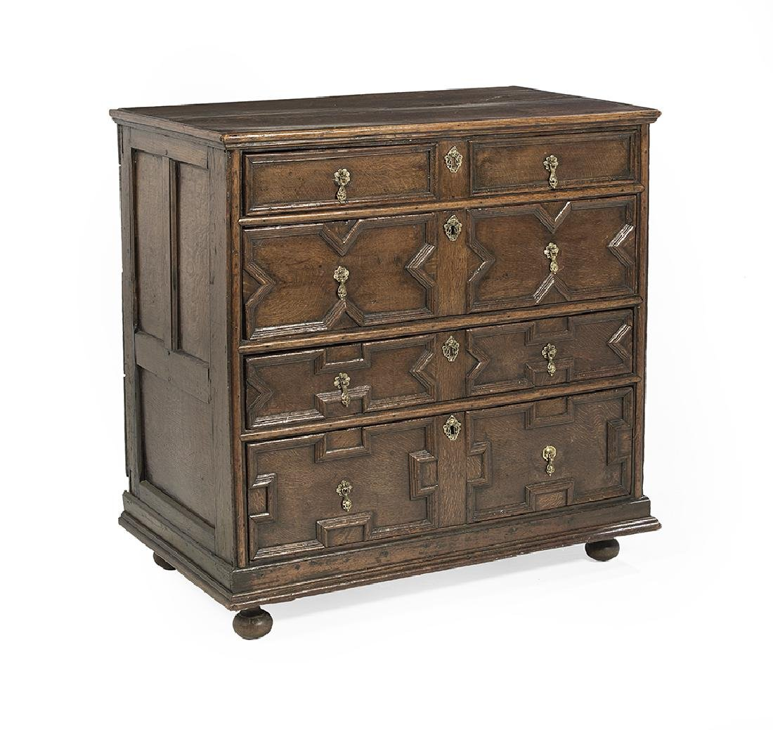 Jacobean-Style Oak Chest - 2