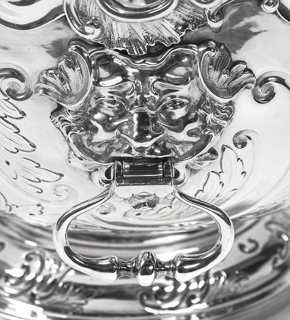 George II Sterling Silver Punch Bowl - 2
