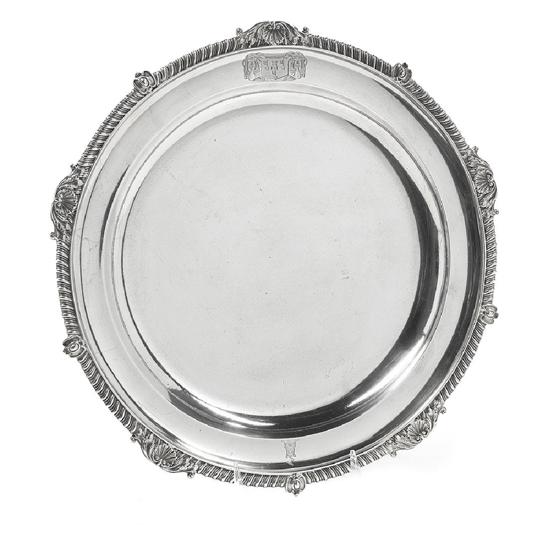 Late George III Sterling Silver Meat Dish