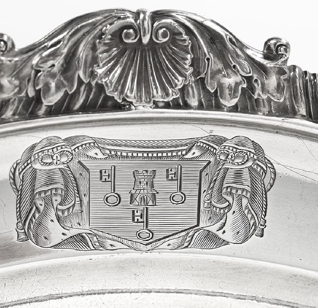 Late George III Sterling Silver Meat Dish - 2