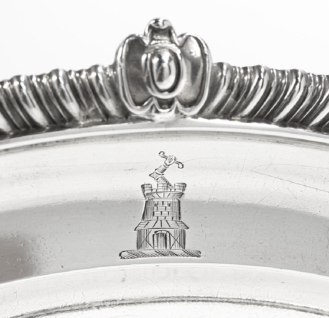 Late George III Sterling Silver Meat Dish - 3