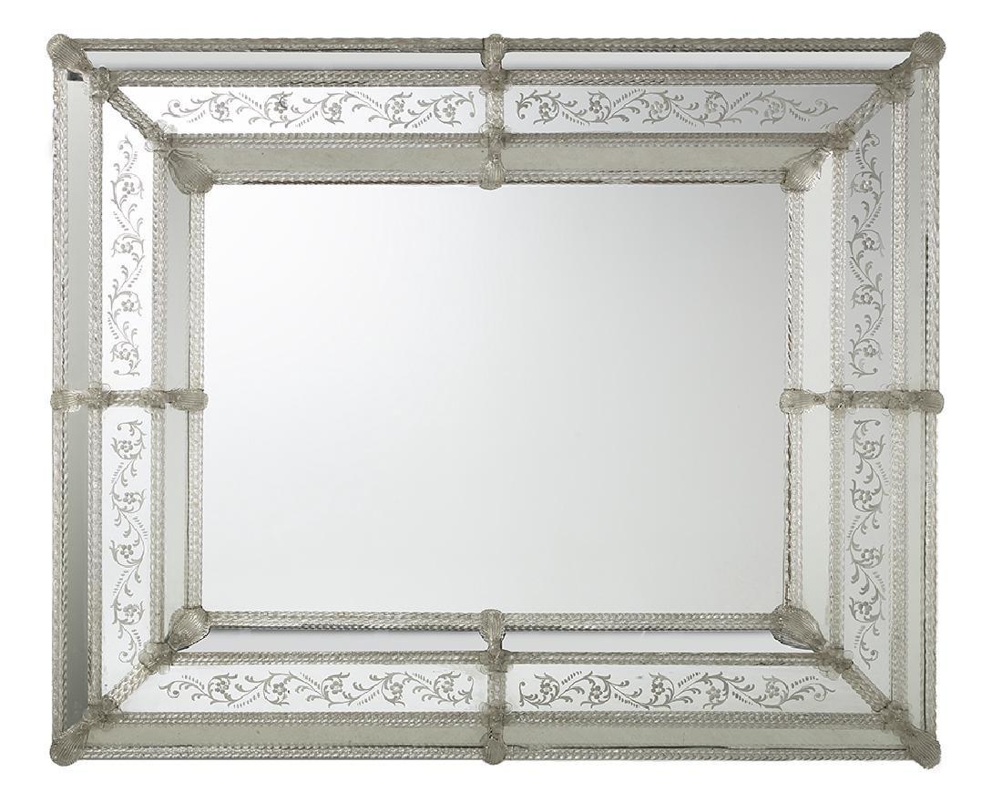 Engraved Venetian Mirror