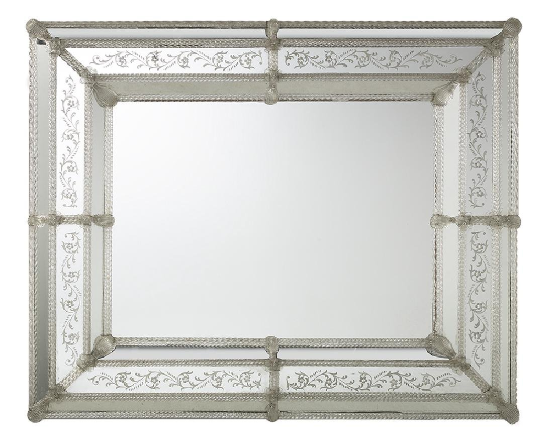 Engraved Venetian Mirror