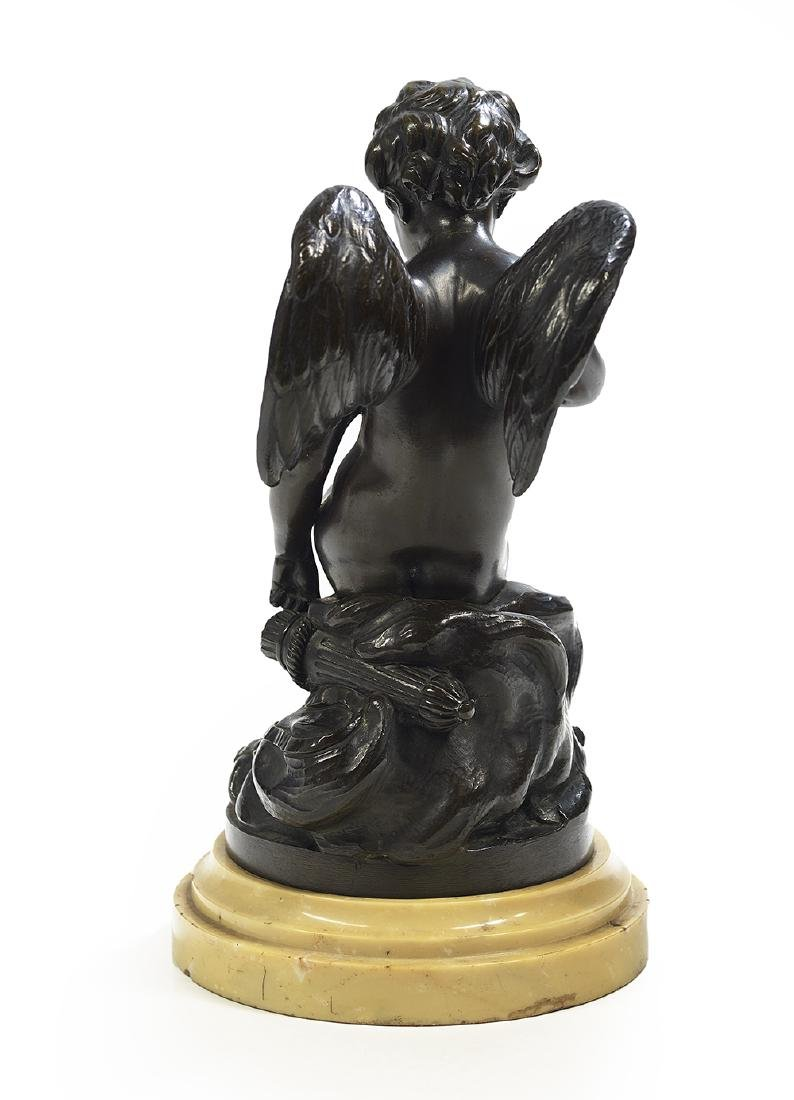 French Patinated Bronze of a Winged Putto - 2