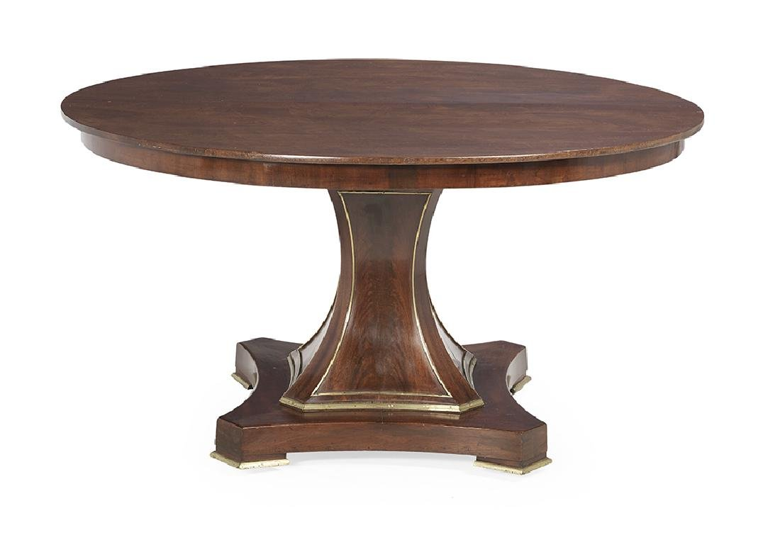 Baltic Neoclassical Brass-Mounted Center Table