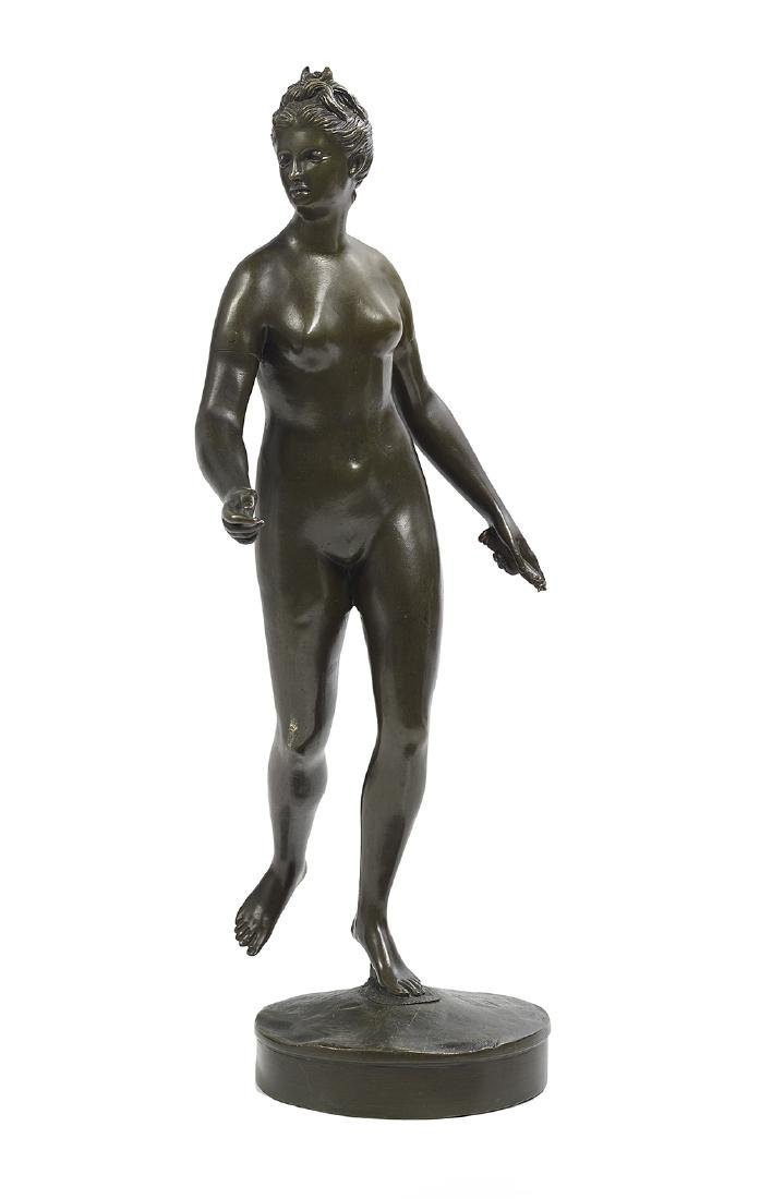 "French Patinated Bronze of ""Diane Chasseresse"""