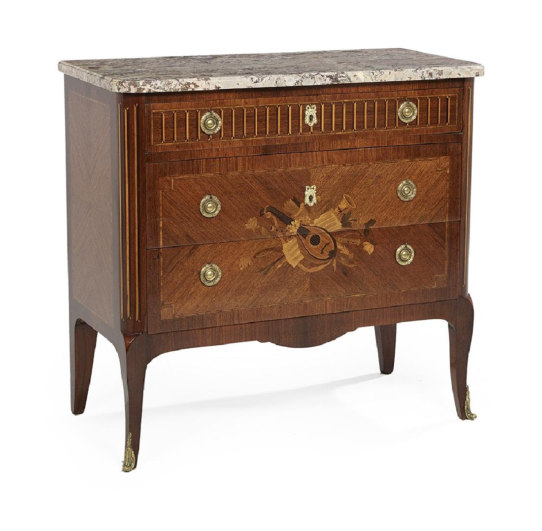 Louis XV/XVI-Style Marble-Top Commode - 2