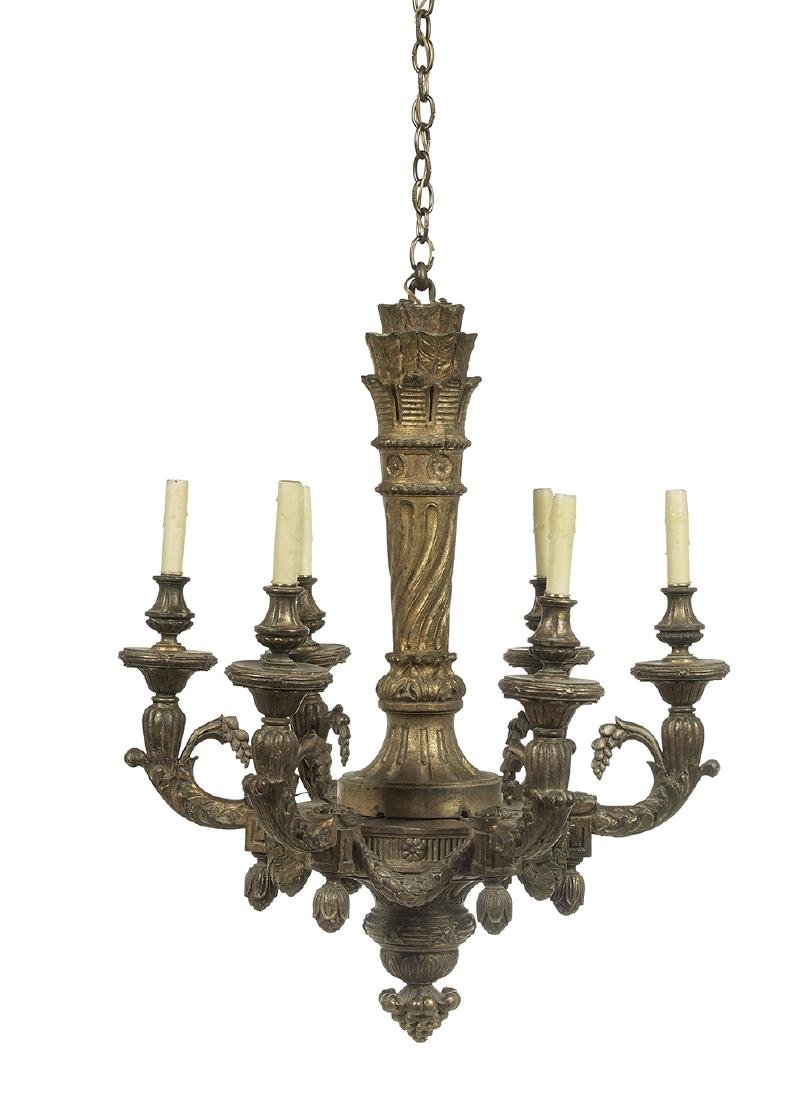 French Carved Giltwood Chandelier