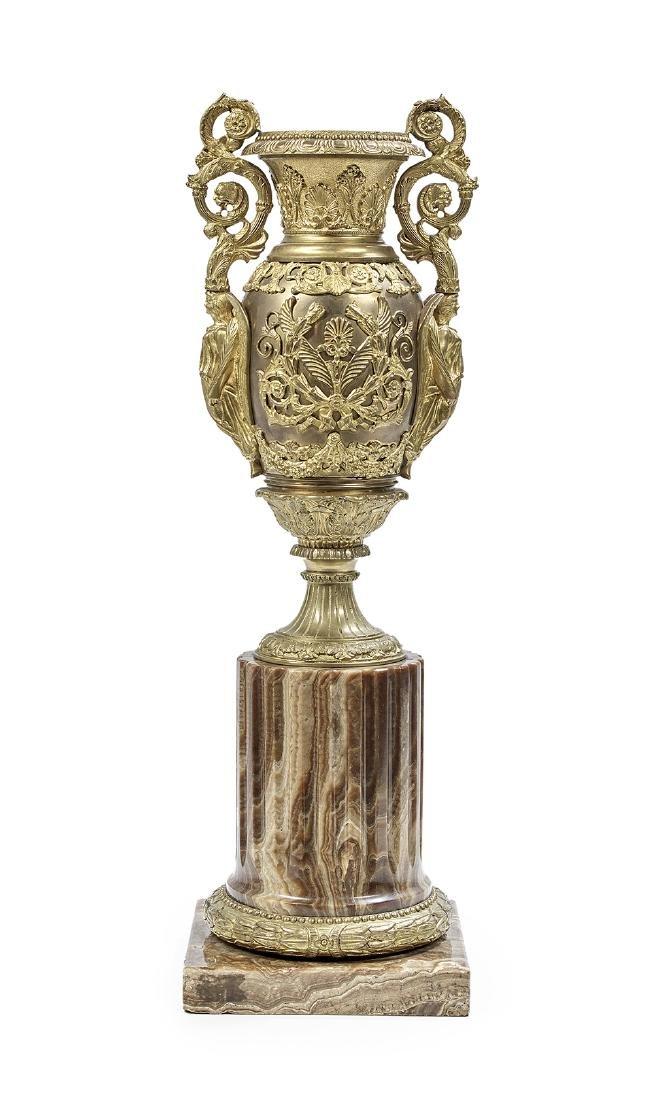 Beaux-Arts Bronze and Onyx Urn