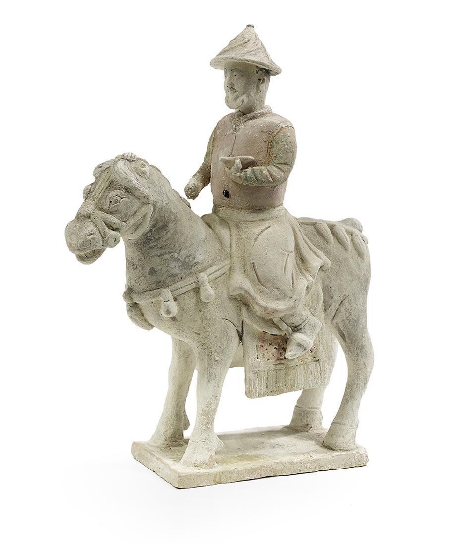 Rare Yuan Dynasty Ceramic Equestrian Figure