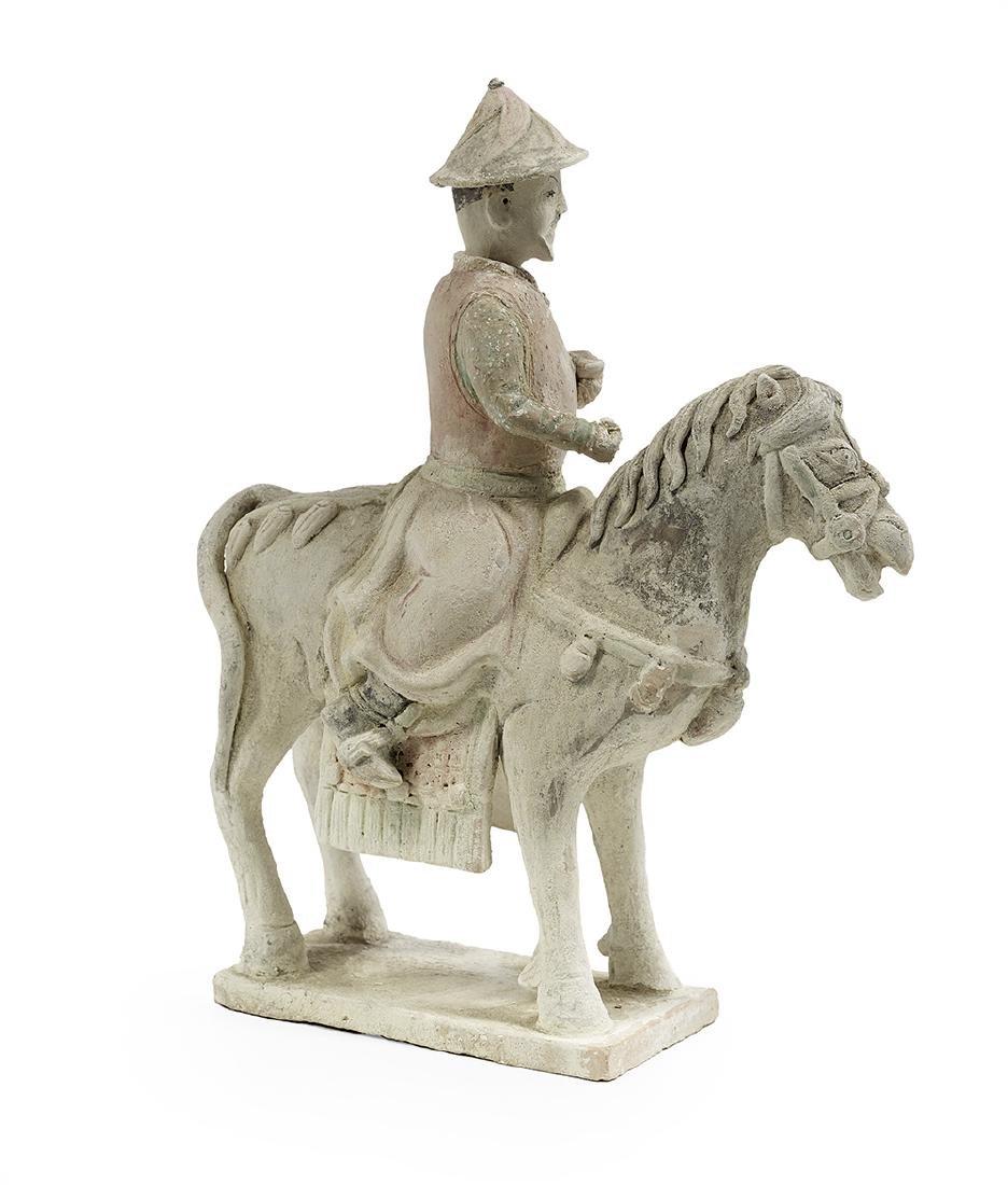 Rare Yuan Dynasty Ceramic Equestrian Figure - 2