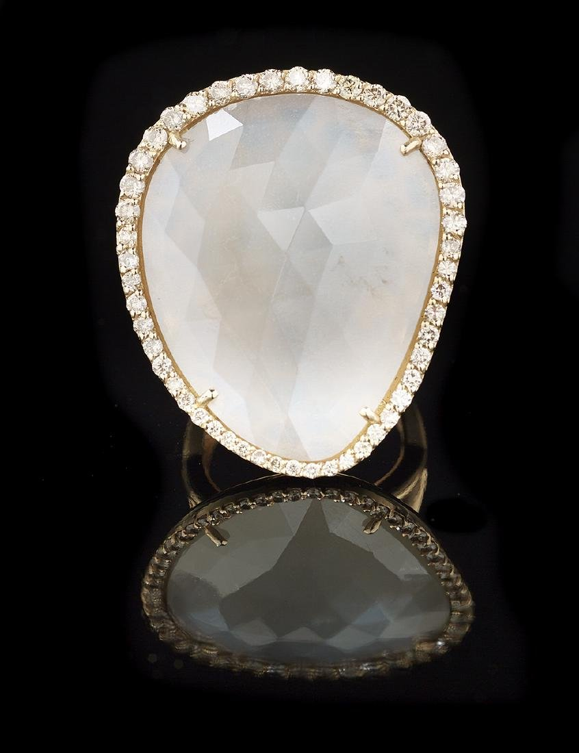 Mother-of-Pearl and Diamond Ring
