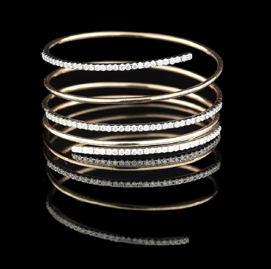 Custom-Made Diamond Spiral Bracelet