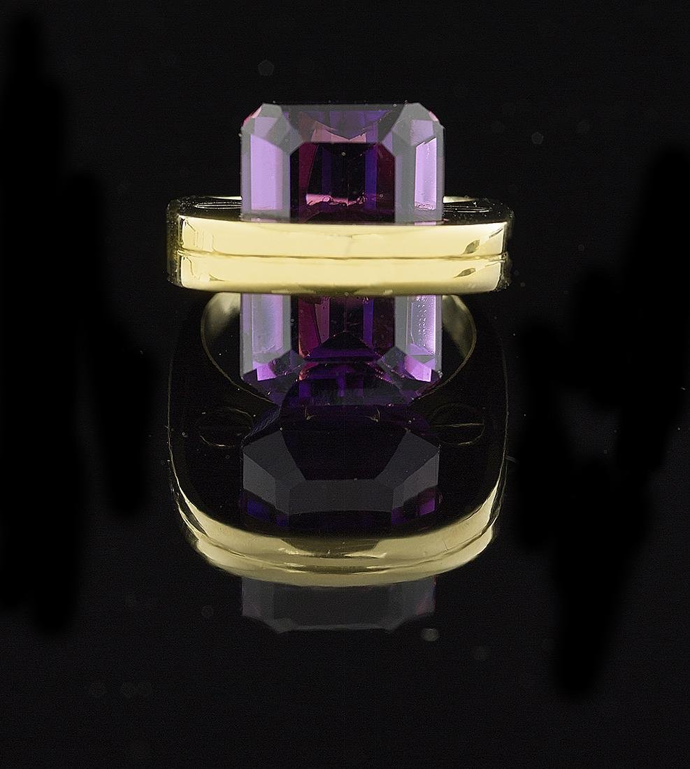 Unusual Amethyst Ring