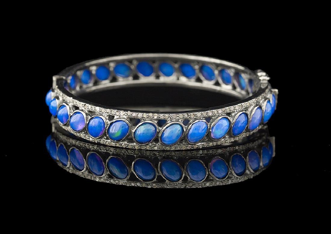Opal and Diamond Bracelet