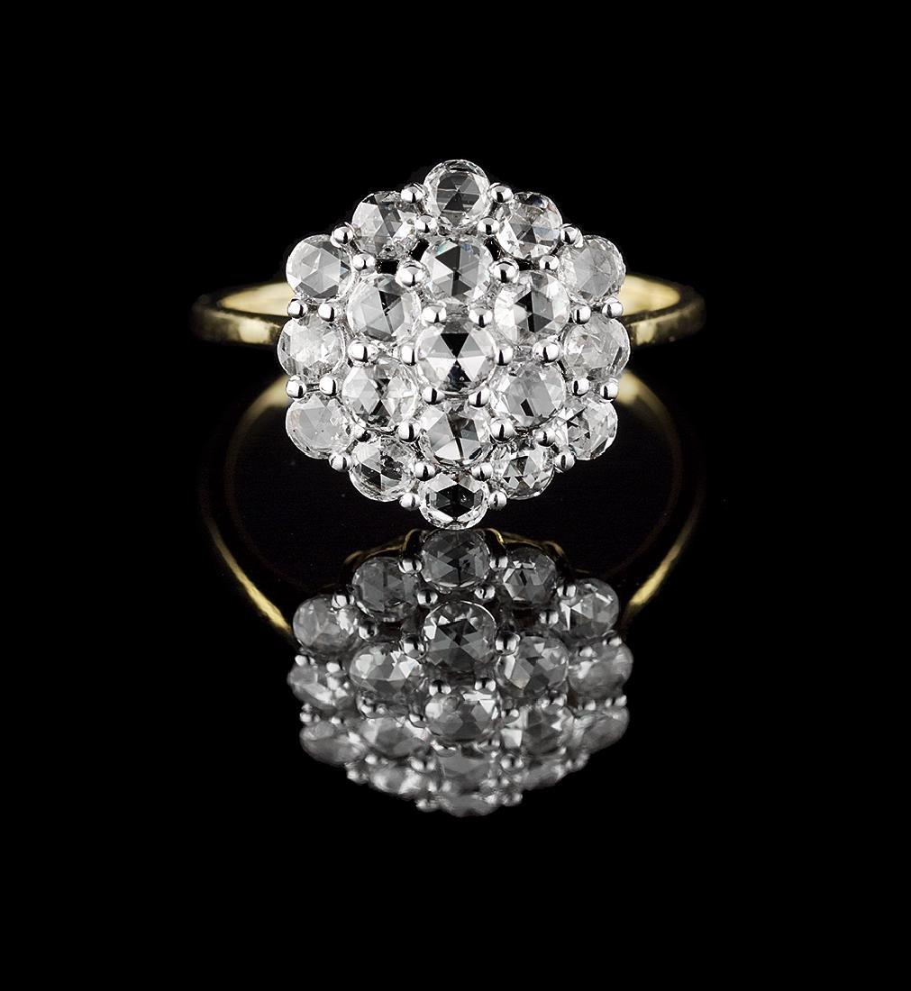 Beautiful Rose-Cut Diamond Ring