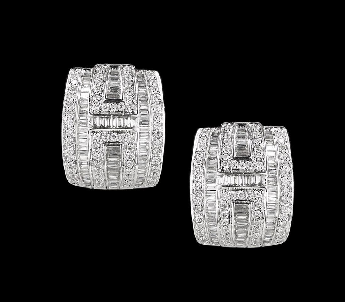 Beautiful Diamond Huggie Earrings