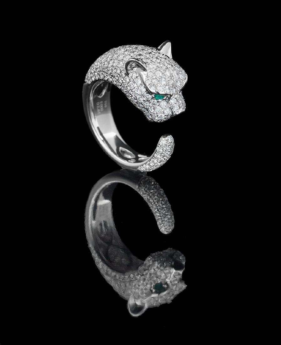 """Diamond """"Panther"""" Ring"""